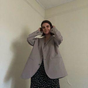 Tan / beige / nude leightweight oversized blazer